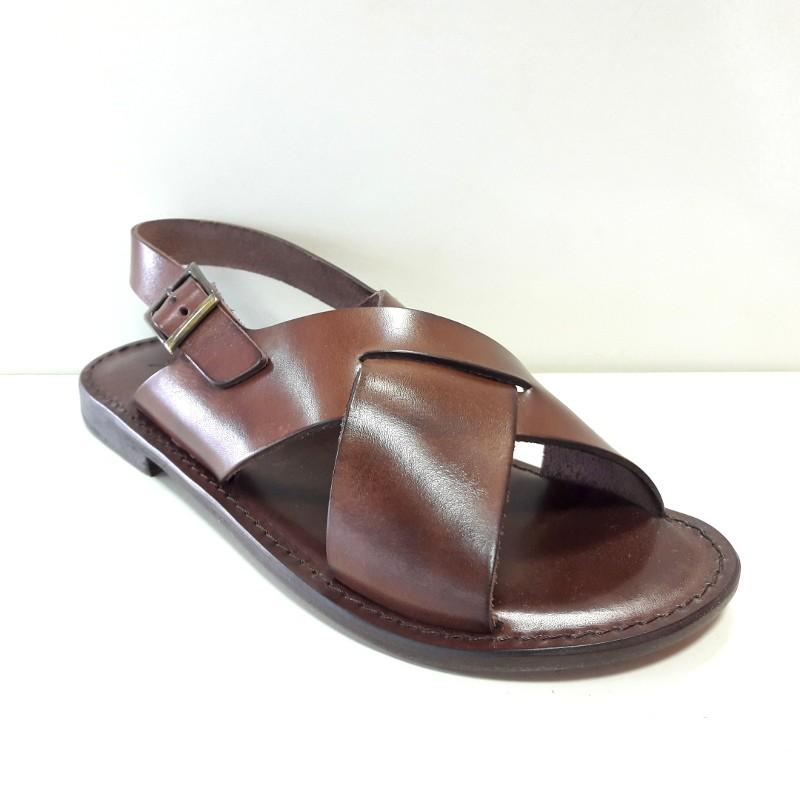 L Angolo Del Cuoio.L Angolo Del Cuoio Sandalo Uomo 7006 Testa Di Moro
